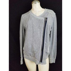 Calvin Klein Size L Cardigan Asymmetrical Zipper